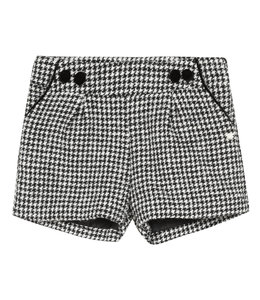 TARTINE ET CHOCOLAT | Short in houndstooth stof - Zwart & Ecru