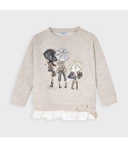 MAYORAL | Sweater met paraplu meisjes - Stone