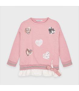 MAYORAL | Sweater met hartjes - Roze