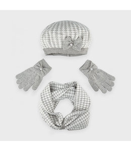 MAYORAL   3-delige set Sjaal, muts & handschoenen - Grijs