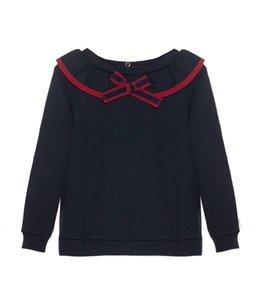 PATACHOU | Sweater met kraag - Blauw
