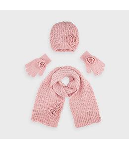 MAYORAL | 3-delige set Sjaal, mut & handschoenen - Roze