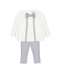 PATACHOU | 2-delig set sweater & broek - Ecru & Grijs