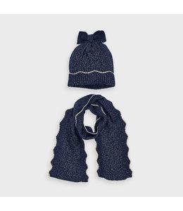 MAYORAL | 2-delige set Sjaal & Muts - Blauw