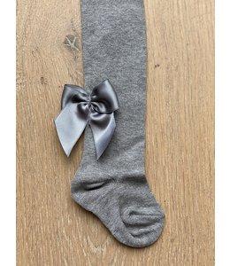 MEIA PATA | Kousenbroekje zijden strik achter - Grijs