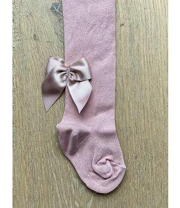 MEIA PATA | Kousenbroekje zijden strik achter - Oudroze