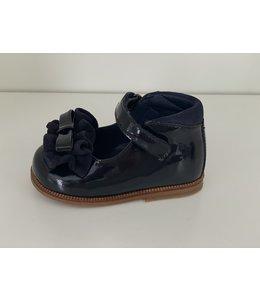 CLARYS   Schoentje met strikje & ruffles - Marineblauw