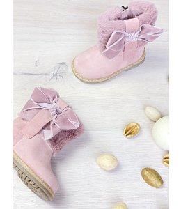 ELI BY CUCADA  | Boots met imitatiebont & strik - Roze
