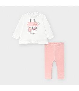 MAYORAL | 2-delig set sweater & legging - Roze