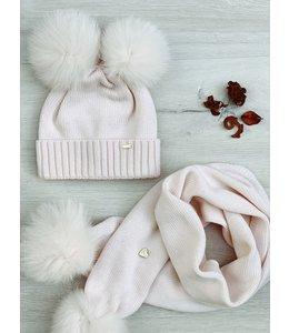 IL TRENINO | Sjaal met pompom - Roze