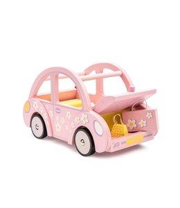 LE TOY VAN | Houten Sophie's auto  - Roze