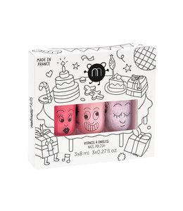 NAILMATIC KIDS   Doosje met 3 roze nagellakken - Party