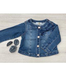 LIU JO Baby & Honey | Jeans jasje met strikdetail - Denim