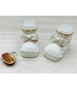 LIU JO Baby & Honey | Babykousjes met strikdetail - Off-white & Gold
