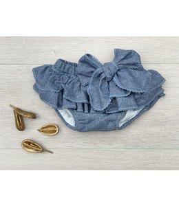 LAIVICAR | Bloomer met ruffles en strik - Blauw