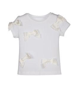 LAPIN HOUSE | T-shirt met strikjes - Wit