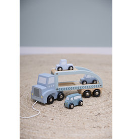 Tiamo Houten truck Adventure blue Little Dutch