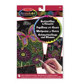 Melissa & Doug Melissa&Doug 15956 Scratch Art-Platen met Verborgen Kleuren: Vlinders en Bloemen