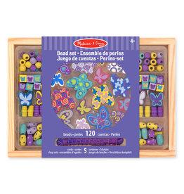 Melissa & Doug Butterfly friends - wooden beads set
