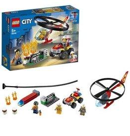 LEGO Brandweerhelicopter reddingsoperatie - City Fire Helicopter response