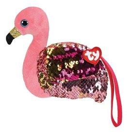Ty Gilda Flamingo  Ty Fashion Portemonnee  13cm