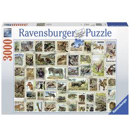 Ravensburger Ravensburger puzzel  170791 Dieren Postzegels/Animal Stamps 3000 stukjes