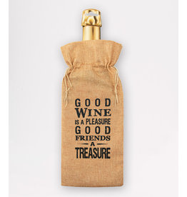 Bottle Gift Bag - Good Wine Is A Pleasure