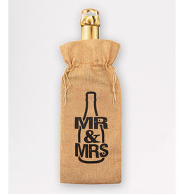 Bottle Gift Bag - Mr. & Mrs.