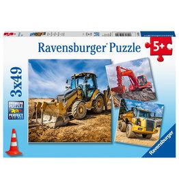 Ravensburger Bouwmachines Aan Het Werk 3X49