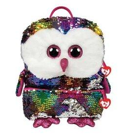 Ty Fashion Ty Fashion Rugzak Square Owen Owl 33cm