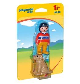 Playmobil Man en hond - Playmobil 1.2.3