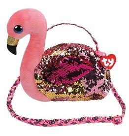 Ty Fashion Ty Fashion Schoudertas Gilda de Roze Flamingo 20cm