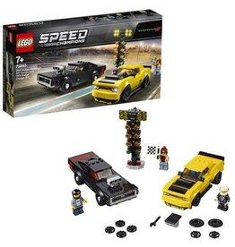 Lego Speed Champions 2018 Dodge Challenger Srt Demon En 1970 Dodge Charger R/T - Speed Champions