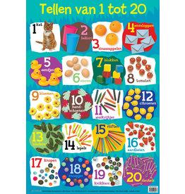 Edutrix Tellen Van 1-20  - Educatieve Poster