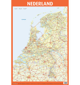 Edutrix Poster Van Nederland - Educatieve Poster