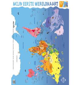 Edutrix Mijn Eerste Wereldkaart - Educatieve Poster