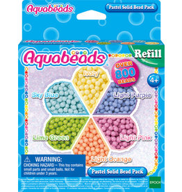 Aquabeads Aquabeads 31360 Navulling Parels Pastel - Pastel Solid Bead Pack