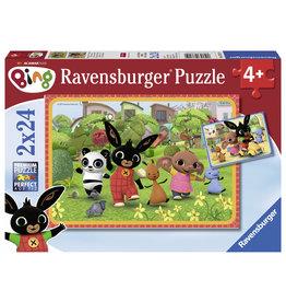 Bing Ravensburger Bing Bunny: Bing En Zijn Vrienden 2X24 Stukjes