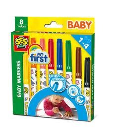 SES Creative SES Baby Markers 8 kleuren 00299