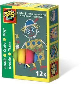 SES Creative SES Krijt 12 Kleuren  00201