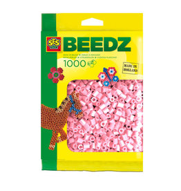 SES SES Strijkkralen 1000 parelmoer roze 00748