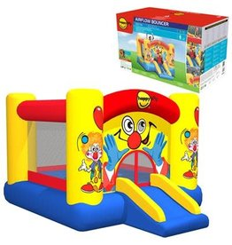 Happy Hop Kids Springkussen Clown Slide and Hoop  300x2250175cm