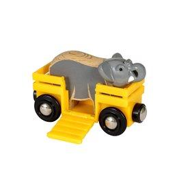 Brio Elephant & Wagon