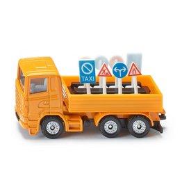 Siku Siku Super 1322 Lastwagen met verkeersteken