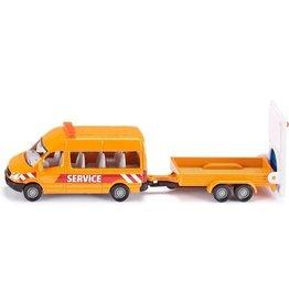 Siku Siku Super 1660 Transporter met Waarschuwingsbord