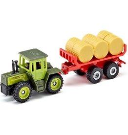 Siku Siku Super 1670 Tractor met Hooibalen Aanhanger