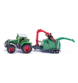 Siku Siku Super 1675 Tractor met Houthakselaar