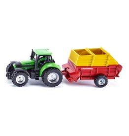 Siku Siku Super 1676 Tractor met Pšttinger Laadwagen