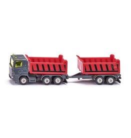 Siku Siku Super 1685 Vrachtwagen met Kantelbare Bak en Kiepaanhanger