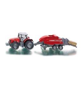Siku Siku Farmer 1951 Massey Ferguson Traktor met Balenpers (1:50)